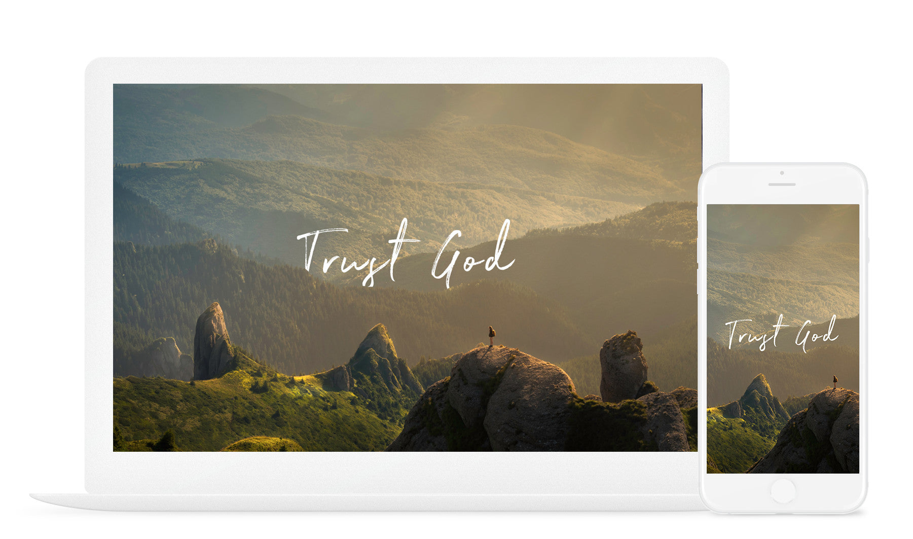 Trust God Christian wallpaper artwork art scripture encouraging verse