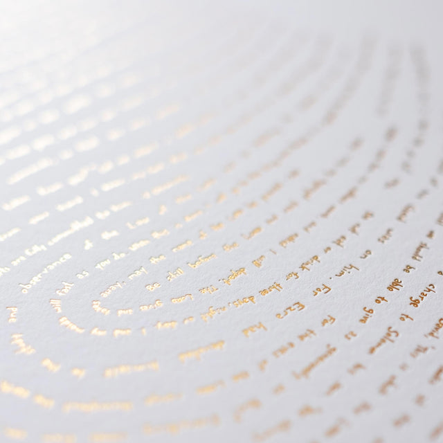 Illuminated Fingerprint - One verse from every book of the Bible in gold