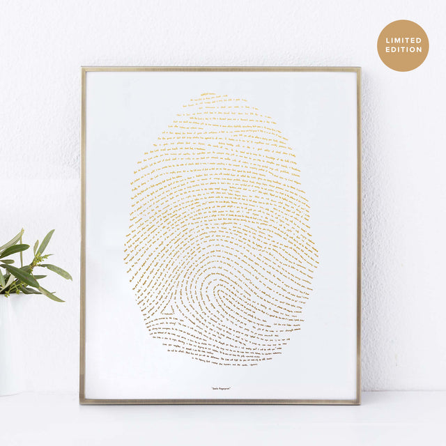 Illuminated Fingerprint - Gold (Limited Edition)