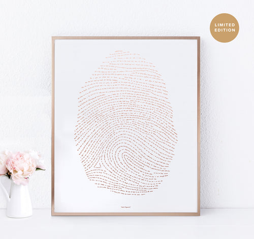 Illuminated Fingerprint - Rose Gold (Limited Edition)