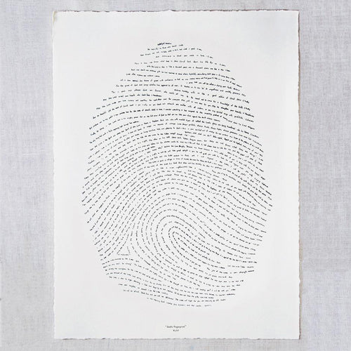 18x24 God's Fingerprint Screenprint (KJV)