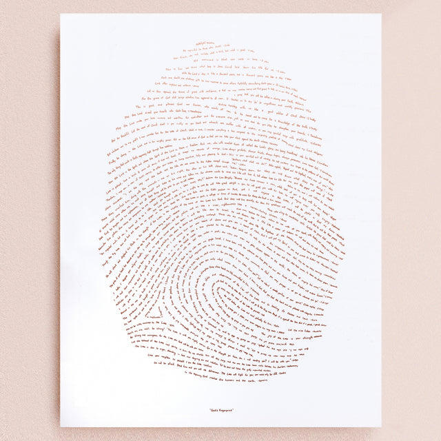 18x24 Illuminated Fingerprint - Rose Gold