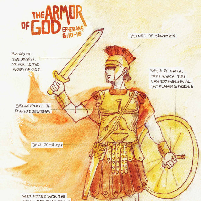 Armor of God - Ephesians 6:11-17 Helmet of Salvation Artwork