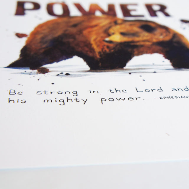 Verse Detail of Power - Ephesians 6:10 | Bible Art Print