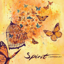 "Scripture Artwork of ""Now the Lord is the Spirit, and where the Spirit of the Lord is, there is freedom."" - 2 Corinthians 3:17"