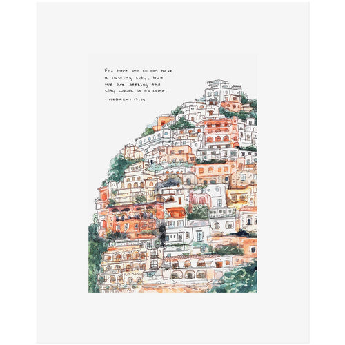 Hebrews 13:14 Lasting City Bible Art Print