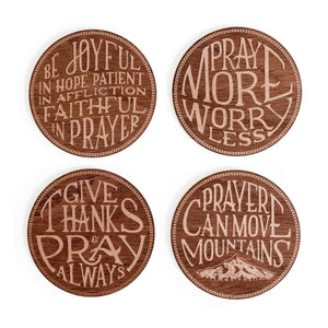 Wood Coasters - Prayer Series