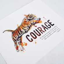 Courage - Joshua 1:9 Scripture Wall Art