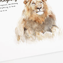 lion scripture art