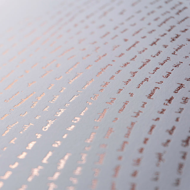 Rose Gold Illuminated Fingerprint - One verse from every book of the Bible