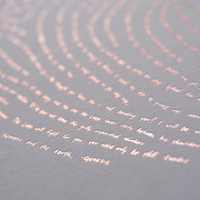 Rose Gold Illuminated Fingerprint - Detail of Bible Verses