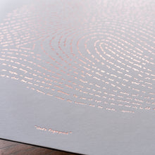 Rose Gold Illuminated Fingerprint Scripture Artwork