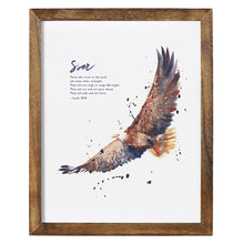 Framed Bible Art Print - Isaiah 40:31 Soar on Wings Like Eagles