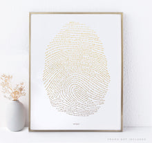 18x24 Illuminated Fingerprint - Gold