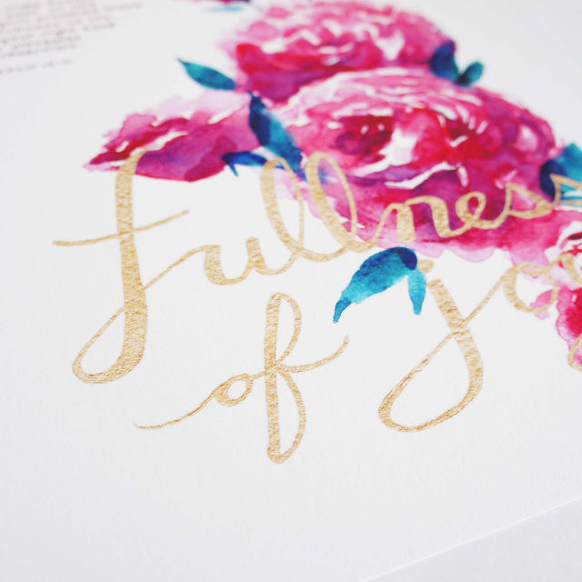 Fullness of Joy - Psalm 16:11 Bible Wall Art Detail Shot