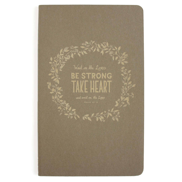 Take Heart Journal - Grey Laser Etched Moleskine
