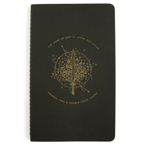 Sword Journal - Black Laser Etched Moleskine