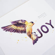 Joy - Romans 15:13 Bible Art Print featuring American Goldfinch