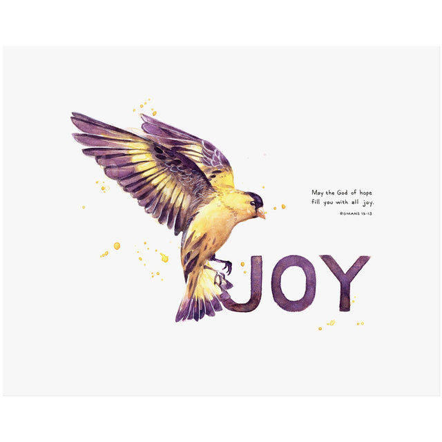 Word + Creation Bundle - Scripture Art joy goldfinch animal verses bible