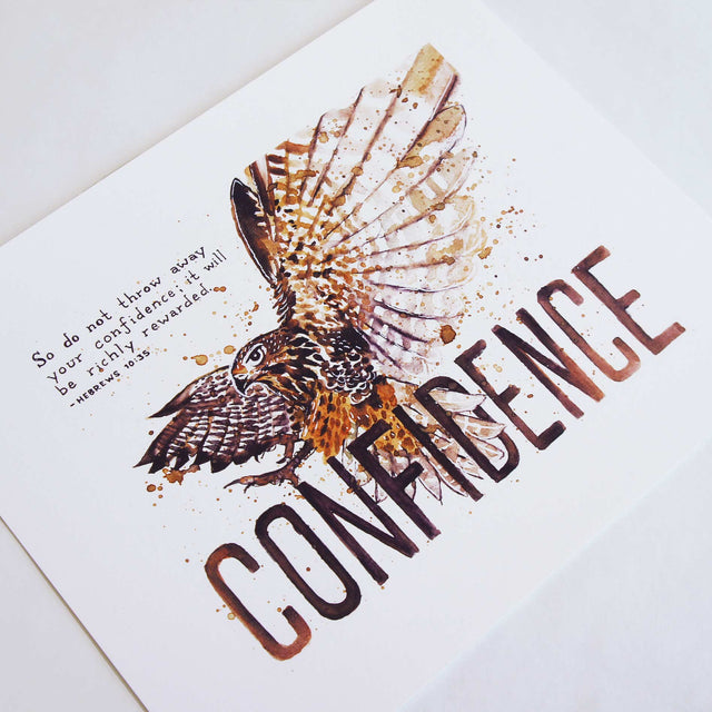 Confidence - Hebrews 10:35 Bible Art Print