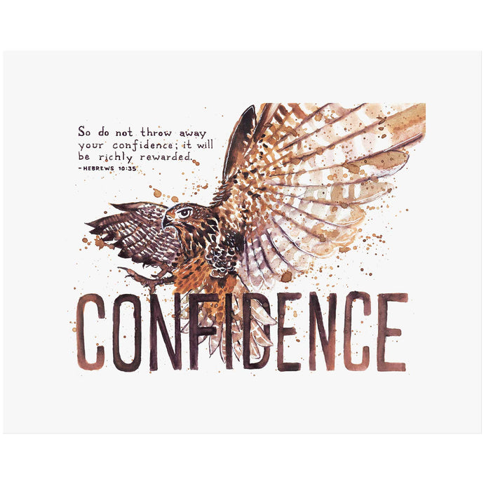 Confidence - Hebrews 10:35 Scripture Art Print
