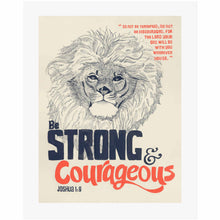 Be Strong & Courageous - Joshua 1:9 Scripture Wall Art