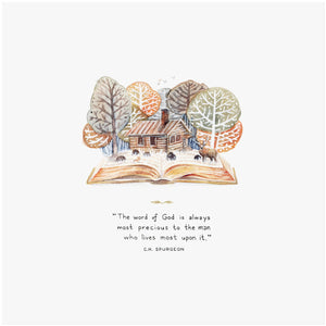 Charles Spurgeon Live Upon The Word Quote Art Print