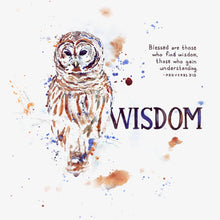 "Scripture Artwork of ""Blessed are those who find wisdom, those who gain understanding."" - Proverbs 3:13"