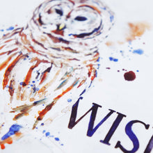 Painting Detail of Wisdom Owl - Proverbs 3:13 Scripture Art Print