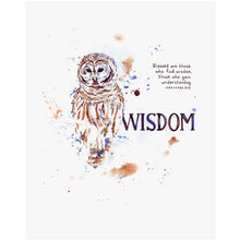Word + Creation Bundle - Scripture Art wisdom owl animal verses bible