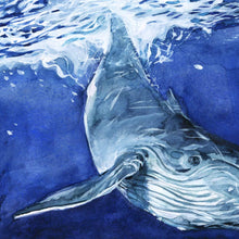 Close up of Whale in Psalm 139:9-10 Wall Art