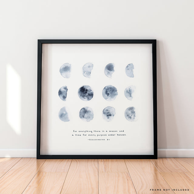 Seasons Ecclesiastes moon phases wall art