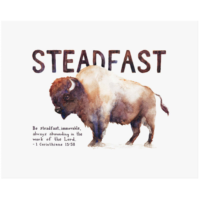 Word + Creation Bundle - Scripture Art steadfast bison animal verses bible