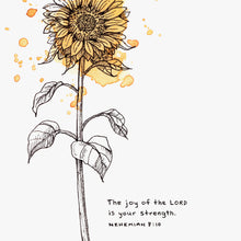 "Scripture Art Print for ""The joy of the LORD is your strength."" - Nehemiah 8:10"