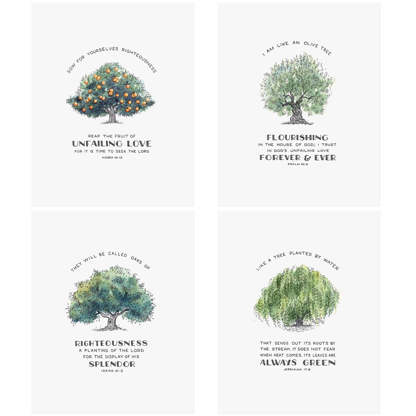 Trees of Faith Bundle Scripture Art Prints
