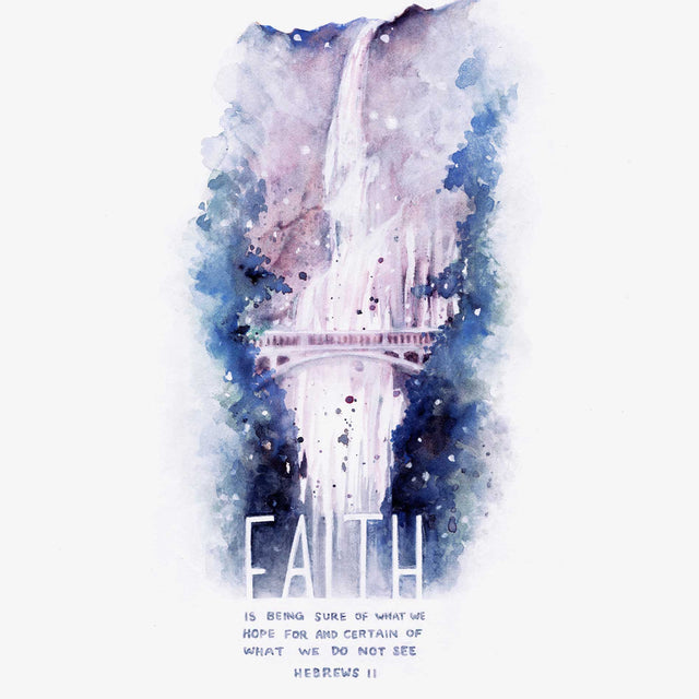 "Scripture Art Print ""Faith is being sure of what we hope for, and certain of what we do not see."" - Hebrews 11:1"