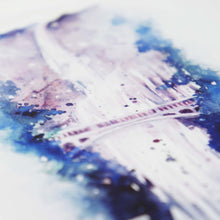 Faith Waterfall - Hebrews 11:1 Closeup of watercolor illustration