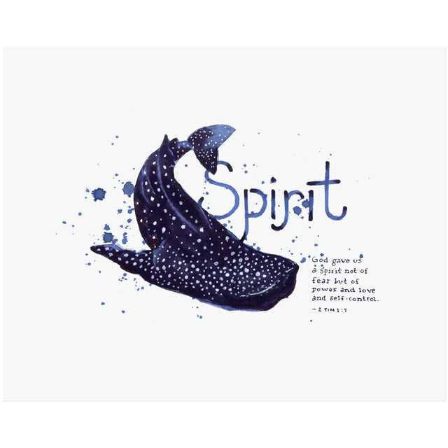 Word + Creation Bundle - Scripture Art spirit whale shark animal verses bible