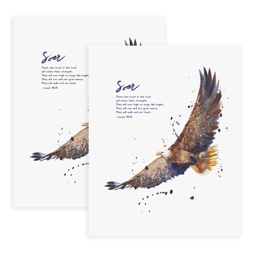 Soar On Wings Like Eagles (Isaiah 40:31) - 2x Print Bundle