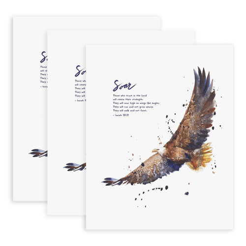 Soar On Wings Like Eagles (Isaiah 40:31) - 3x Print Bundle
