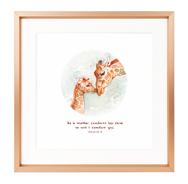 AsFramed Scripture Art - As a Mother Comforts Her Child - Isaiah 66:13
