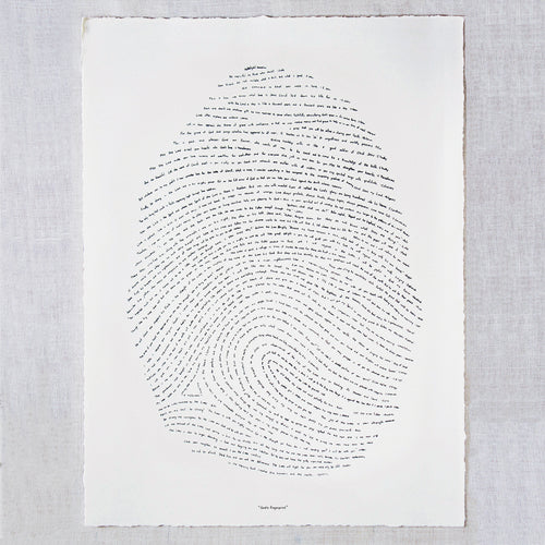 God's fingerprint Screenprint - Bible Verse Scripture Artwork