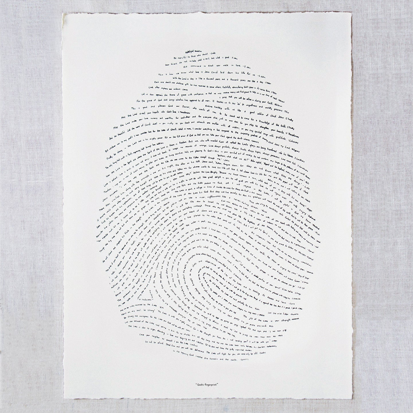 18x24 God's Fingerprint Screenprint