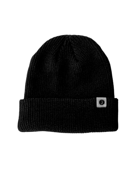 Black Jupiter Knit Beanie