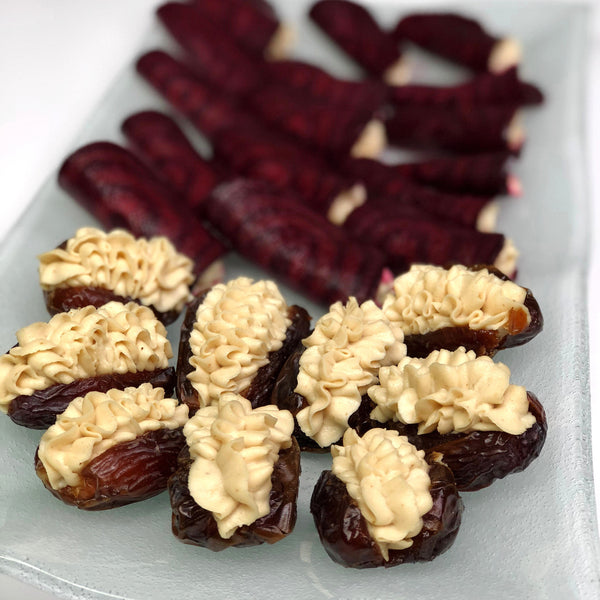 Macadamia filled medjool dates & beets