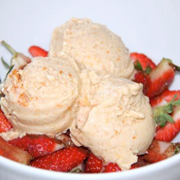 Orange - Almond Ice Cream