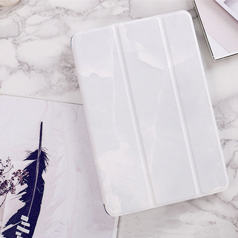 "Mimiatrend Marble Grain Flip Smart Cover For ipad Pro 9.7"" mini1/2/3 ipad 2 3 4 Air 1/2 Shell + Case for Iphone /Protective Film"