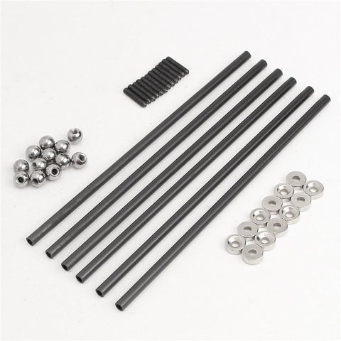 NEW One Set Diagonal push Rod L200 Rods Arms Kit + Magnetic Ball Joint + Steel Ball for kossel 3D Printer Parts Accessories