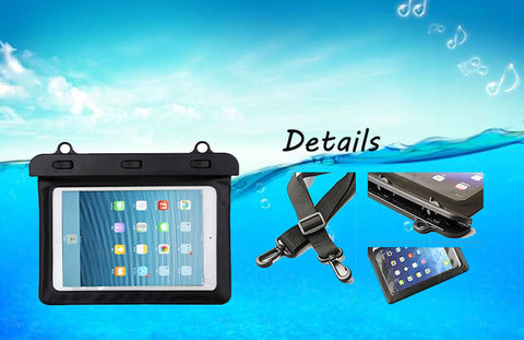 "7"" Waterproof Dry Bag Water Resistance Pouch Case Cover Protector Skin For Kindle Ebook Samsung Tablet Iphone Ipad Mini"