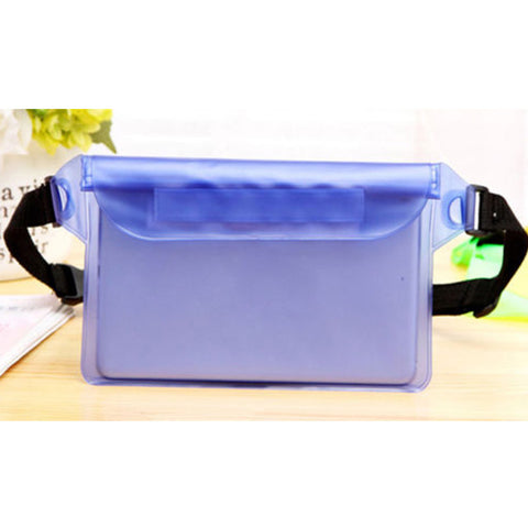 New Waterproof Waist Bag Sport Swimming Beach Pouch Dry Case With Waist Strap For Kindle Ipad Mini Iphone Samsung Boating Using